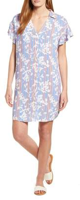 Bobeau Print Shirtdress (Regular & Petite)