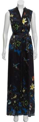Alice + Olivia Silk Maxi Dress Black Silk Maxi Dress
