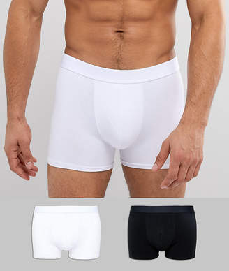 Selected Boxers 2 PACK Black White