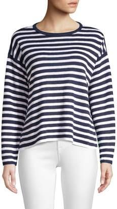 Eileen Fisher Striped Organic Linen Sweater