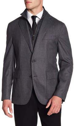 David Donahue Aaron Stand Collar Lined Blazer