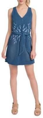Lysse Cooper Stretch Denim Mini Dress