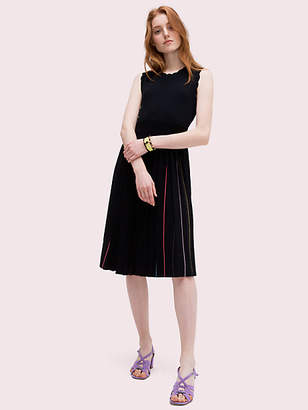 Kate Spade Pleated Sweater Dress, Black - Size L