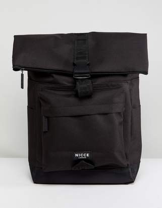 Nicce London rolltop backpack in black
