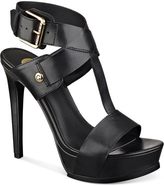 G by GUESS Gennie Platform Sandals $69 thestylecure.com