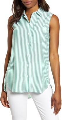 BeachLunchLounge Ana Sleeveless Stripe Shirt