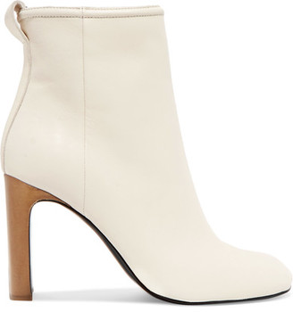 rag & bone - Ellis Leather Ankle Boots - Off-white $595 thestylecure.com