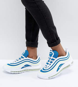 Nike 97 Ultra Trainers In White And Blue