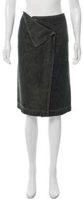 Gucci Knee-Length Denim Skirt
