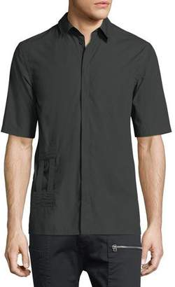 Helmut Lang Bar-Tab Short-Sleeve Shirt