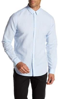 Theory Rotuma Woven Long Sleeve Slim Fit Shirt