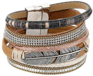 M&F Western Multi-Layer Feather Bracelet Bracelet