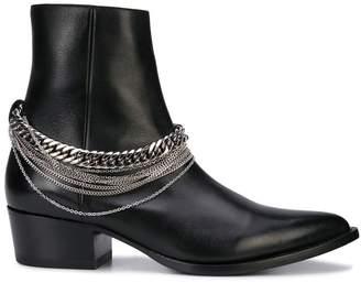 Amiri chain leather western boot