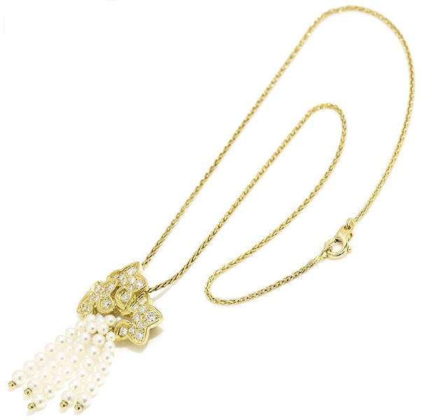 Christian Dior Dior 18k Yellow Gold Pearl and Diamond Necklace/Brooch