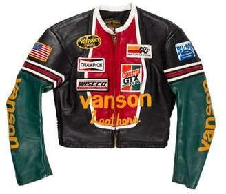 Vanson Leathers Cropped Leather Racing jacket