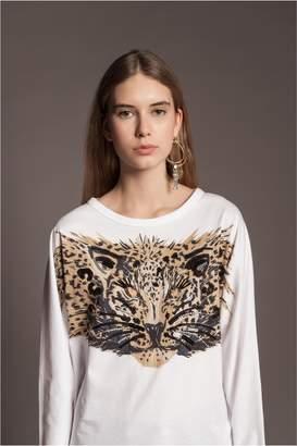 Sonia Rykiel Long-Sleeved Leopard T-Shirt
