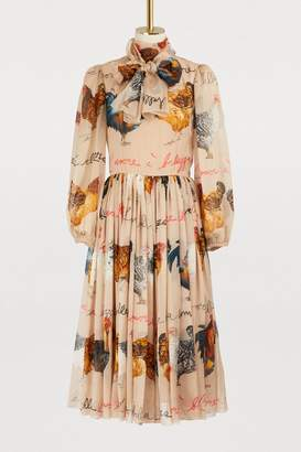 Dolce & Gabbana Hans printed silk dress