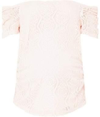 Dorothy Perkins Womens **Maternity Blush Gathered Sleeve Bardot Top