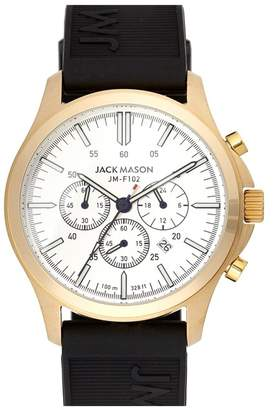 JACK MASON Field Chronograph Rubber Strap Watch, 42mm