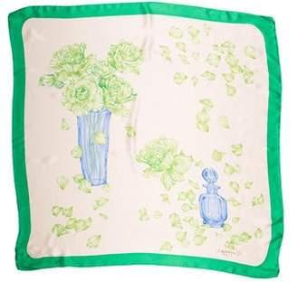 Lanvin Silk Print Scarf