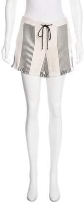 Derek Lam Fringe Striped Shorts