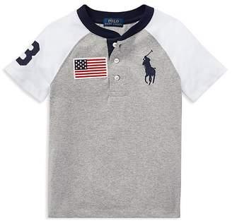 Polo Ralph Lauren Boys' Cotton Jersey Big Pony Henley Tee - Little Kid