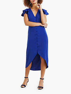 68693f8ee53e Oasis Button Front Midi Dress, Rich Blue