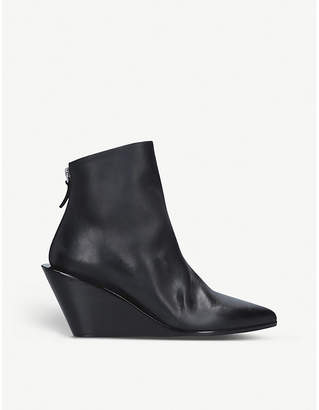 Marsèll Coneppa leather wedge boots