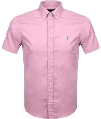 Ralph Lauren Short Sleeved Slim Fit Shirt Pink