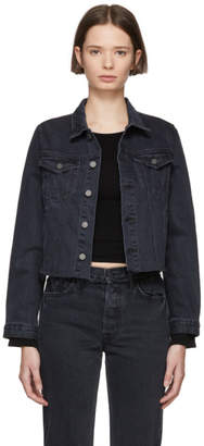 GRLFRND Black Denim Fitted Cropped Cara Jacket