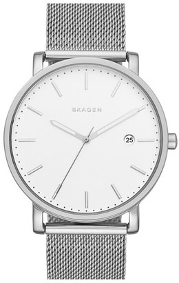 Skagen 'Hagen' Mesh Strap Watch, 40mm $165 thestylecure.com