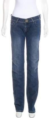 Thomas Wylde Low-Rise Straight-Leg Jeans