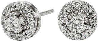 JCPenney FINE JEWELRY 1/2 CT. T.W. Diamond 10K White Gold Round Framed Stud Earrings