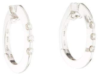 Roberto Coin 18K Diamond Oval Hoop Earrings