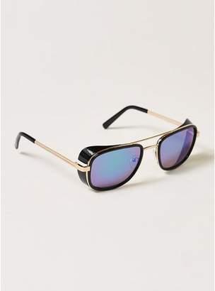 Topman Mens Black Presley Navigator Sunglasses