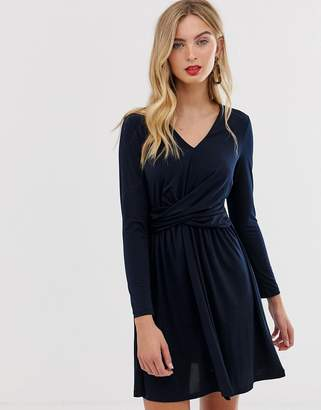French Connection Alexia wrap front dress