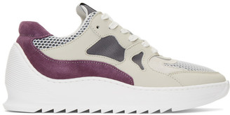 Filling Pieces Grey and Purple Plasma Orbit 2.0 Low Sneakers