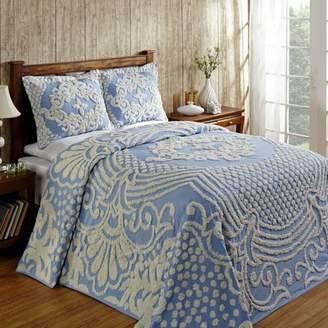 "Better Trends Florence Bedspread, 81""X110""/Twin, Blue"