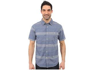 The North Face Short Sleeve Engine Stripe Shirt Men's Short Sleeve Button Up