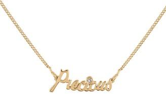 Lee Renee Precious Necklace Diamond & Gold Vermeil