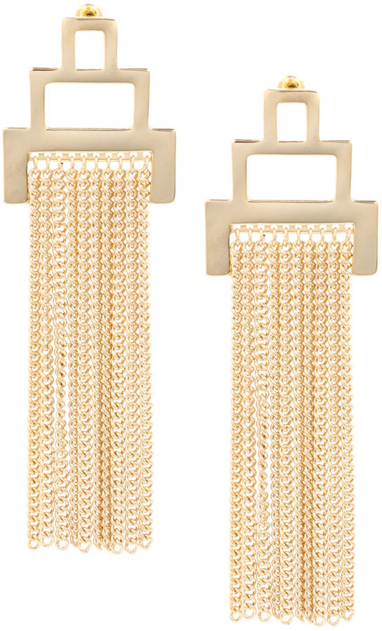 French Connection Block Tassel Drop Earring (+)
