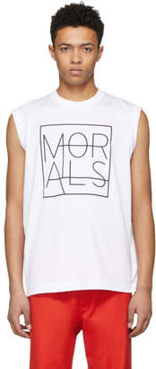 John Lawrence Sullivan Johnlawrencesullivan White Sleeveless Morals Muscle T-Shirt