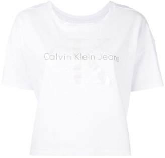 Calvin Klein Jeans logo print T-shirt $49.47 thestylecure.com