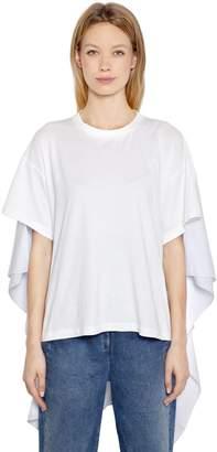 MM6 MAISON MARGIELA Basic Jersey & Striped Poplin T-Shirt