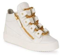 Giuseppe Zanotti Double-Zip Chain Lace Sneakers