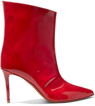 Alexandre Vauthier Alex Patent-leather Ankle Boots - Red