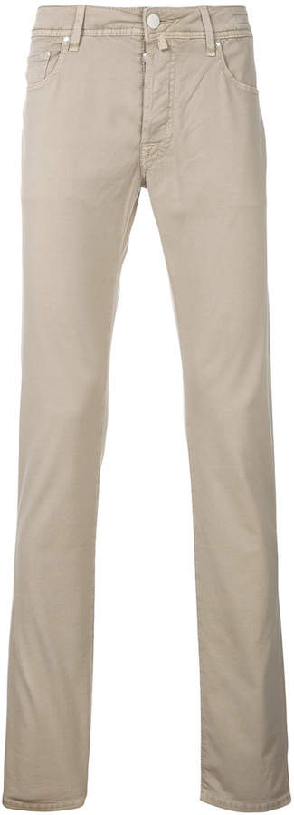 slim fit comfort trousers