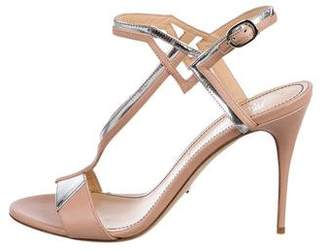 Jerome C. Rousseau Leather Ankle Strap Sandals