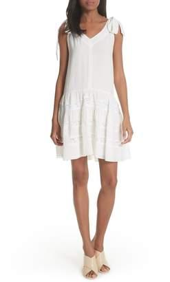 Rebecca Taylor Sleeveless Silk & Lace Dress