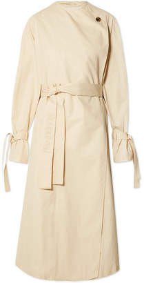 J.W.Anderson Oversized Cotton-twill Trench Coat - Beige